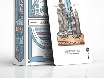 NYC card and box for Explore deck