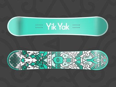 YY Snowboard snowboard illustration deck tibet yak clouds extreme pattern