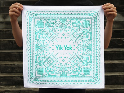 Bandanarama bandana photography symmetry line illustration pattern apparel tibet