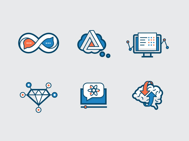 Ed-tech icons icons line school science math illustration learning penrose computer