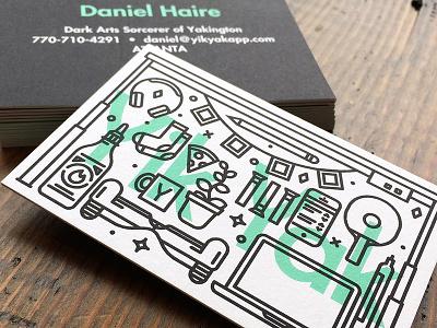 Profesh biz cards logo line icon illustration business card