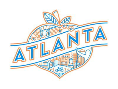Secret Atlanta Secret neutraface line city badge peach atlanta