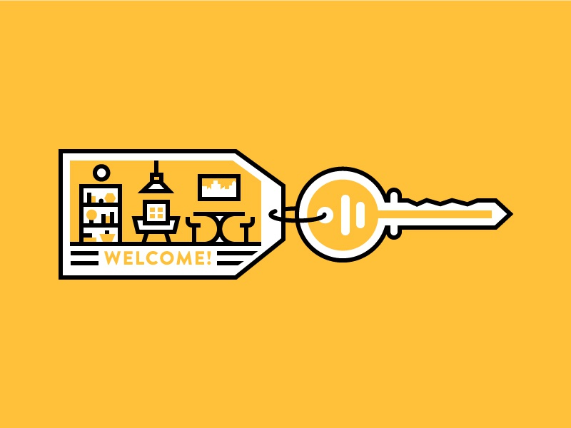 Welcome Key by Daniel Haire for Nooklyn on Dribbble