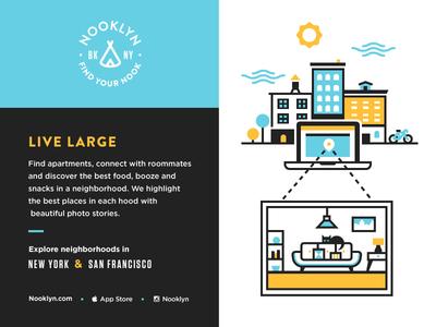 Nooklyn Brand Exploration exploration typography buildings illustration identity brand