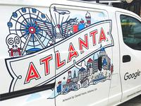 Google Fiber Atlanta Van