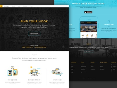 Nooklyn Homepage Refresh brandon grotesque web design illustration product layout homepage