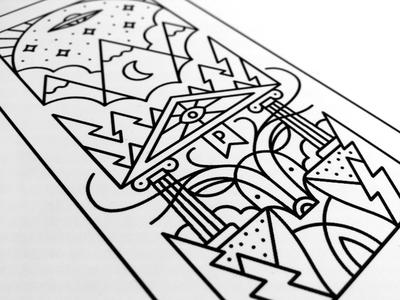 Dearduction print nature paranormal monoweight dear illustration line tattoo
