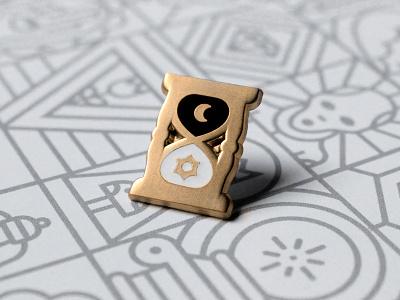 Shape Cult: Nightglass icon symbol night day photo line occult hourglass enamel pin