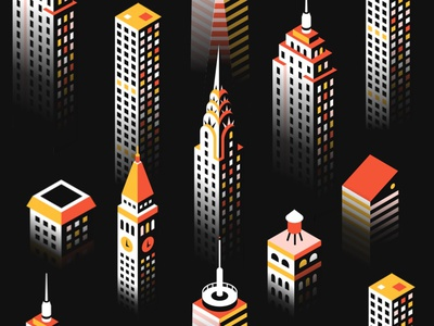 Manhattan shadow realm manhattan new york city volume shadow isometric city buildings