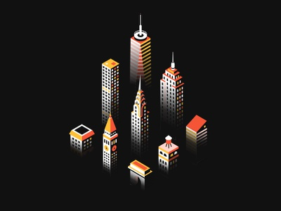 Manhattan shadow realm manhattan new york city volume shadow isometric city buildings