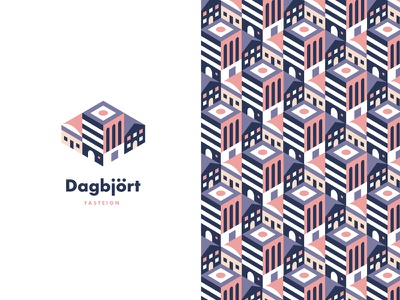 Dagbjört pattern logo buildings