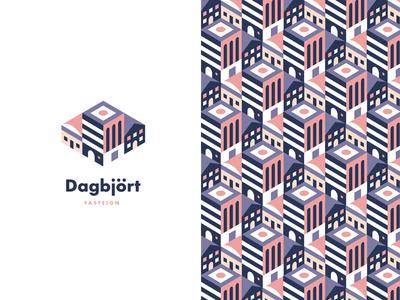 Dagbjört pattern logo buildings