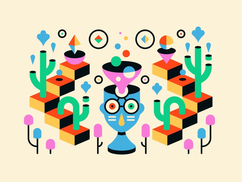 Third Eye Refill geometry shapes abstract illustration