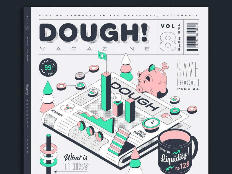 DOUGH! Magazine publication magazine cover magazine