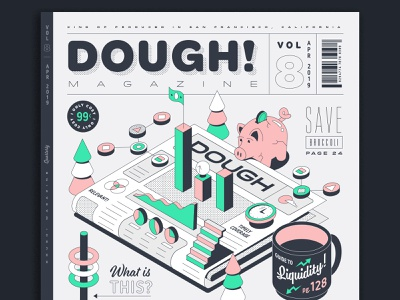 DOUGH! Magazine publication magazine cover magazine