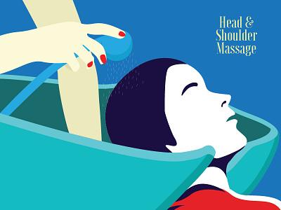 Spa Brochure Illustration hyderabad india graphic design brochure illustrator massage spa design illustration