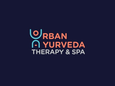 Urban Ayurveda Logo india hyderabad massage a u therapy spa design logo ayurveda