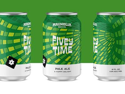 Magnolia Brewing - Fivey Time beercan can packagingdesign san francisco branding craftbeer packaging beer
