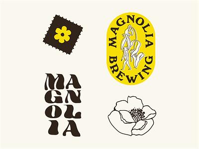 Magnolia Brewing Identity ashbury haight acid flower vintage trippy san francisco craftbeer