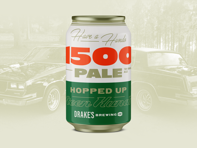 Drake's 1500 Pale Refresh typography yay area cutlass 1989 drakes bay area packaging craft beer beer