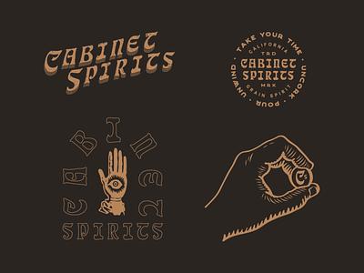 Cabinet Spirits design logo vintage mystic illustration packaging identity spirits