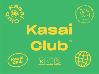 Kasai Club Identity simple icons apparel modern clean minimal bauhaus grotesk