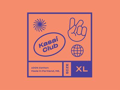 Kasai Club Identity simple icons apparel modern clean minimal bauhaus grotesk