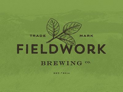 Logo for Fieldwork Brewing Co. vintage illustration rustic handmade rough texture design logo identity craft beer