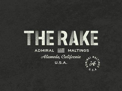 The Rake - Branding admiral maltings america gamutsf halftone ration book wwii coasters malt beer the rake
