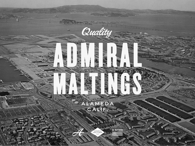 Admiral Maltings Identity branding packaging apparel handpainted signage vintage logo identity design beer
