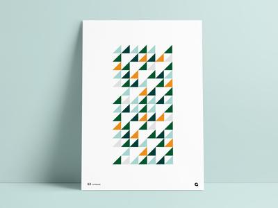 Negative Space Triangular Poster