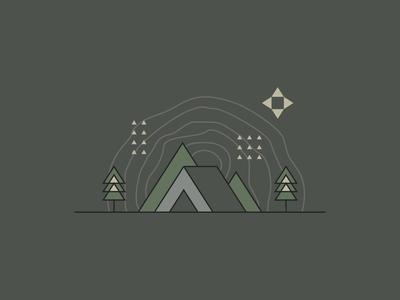 Camping Locations Illustration