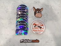 Mother/Baby Elephant Holographic Stickers