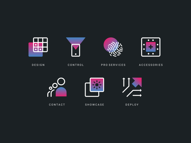 ProtoPixel Mini Icon Set identity colorful icon illustrations tech technology technology icons lighting agrib vibrant colors gradient icons gradient design icon system icon design icon designer iconography icon set geometric abstract vibrant