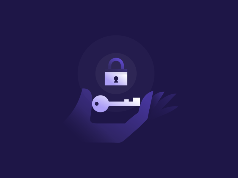 Key Lock Illustration locked unlocked unlock icon vector keyhole hand illustration shadows skeleton key purple illustration gradient agrib holding hands home security secure security illustration lock key