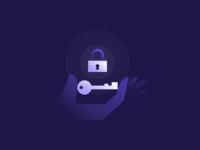 Key Lock Illustration locked unlocked unlock icon vector keyhole hand illustration shadows skeleton key purple illustration gradient agrib holding hands home security secure security illustration lock key