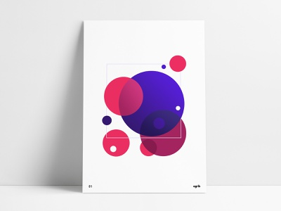 Circular Geometric Poster circles spheres geometric print geometric poster custom posters print design wall art agrib poster series geometric abstract abgeo poster design posters poster art geometric design circular depth of field depth flat design