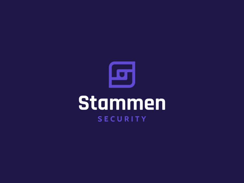 Stammen Logo protection branding and identity negative space logo brand mark agrib icon logo purple logo shield letter shield logo home security security logo letter s s logo letter mark icon mark iconmark lettermark branding logo design