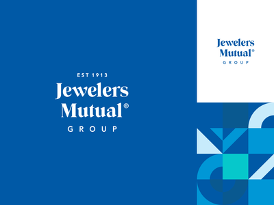 Jewelers Mutual Rebrand - Logo established insurance logo insurance company insurance jewelry logo type stacked wordmark agrib brand work brand design logo update logo redesign logo refresh rebranding rebrand mutual jewelers jewelers mutual