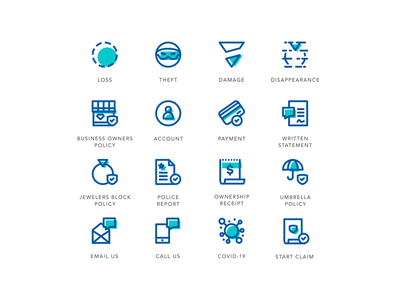 Jewelers Mutual Rebrand Icon Set icon design iconset payment agrib disappear damage theft loss prevention loss insurance icons line art icons custom icon set offset iconography rebranding rebrand icon set jewelry jewelry insurance