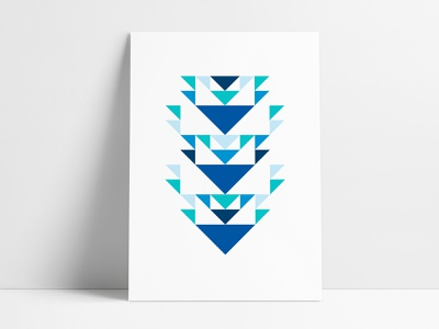 Jewelers Mutual Abstract Geometric Poster I geometric art geometrical posters poster prints negative space custom posters poster set agrib abgeo arrows triangular triangles triangle design print design poster designer poster design custom abstract art geometric