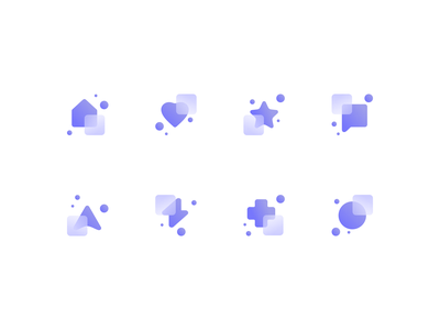 Glass Icon Exploration bubbly bubbles transparency transparent geometric icons abstract icons geometric abstract icon designer icon design gradient icons glass icons glassy glass custom icons agrib explorations icons iconography icon set