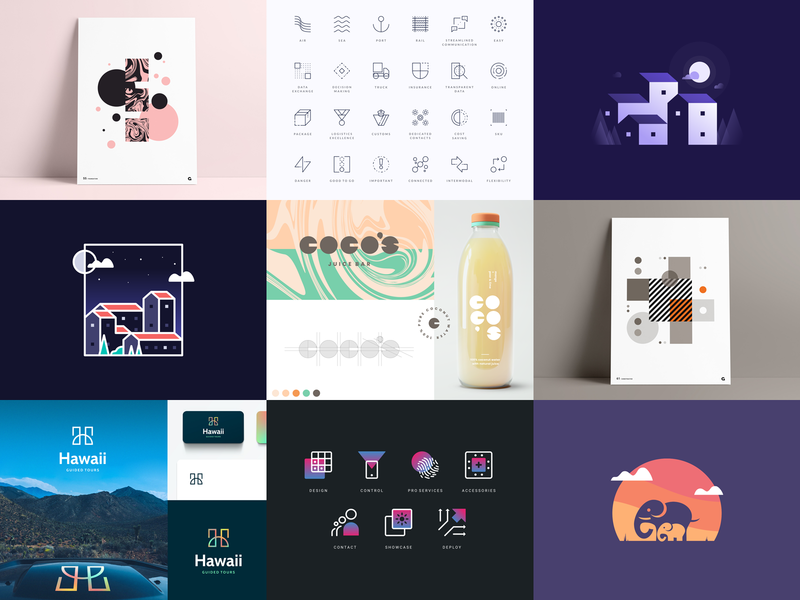 Top 9 Shots of 2020 logo vector freelance freelancer freelance designer abstract branding agrib illustration gradient icon design negative space geometric 9 top9 best9 design shots top 9