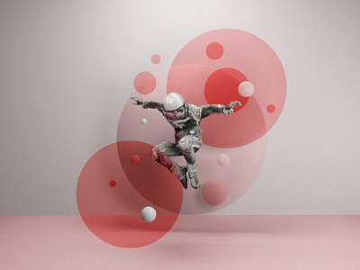 Geometric Astronaut Leaping outer space space spaceman agrib geometric design 3d artist render 3d art spheres circles circular leaping jumping astronaut abstract art geometric scifi blender3dart blender3d blender