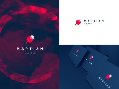 Martian Labs Logo Design planets clean simple circles circular labs outer space orbit branding logo agrib abstract geometric mars space marketing agency agency startup brand identity logo design martian