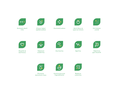 Agrifiber Iconography II custom icon set icon designer curiosity wellness health food and drink food and beverage manufacturing iconography agrib line art line icons subset icon set icons agriculture food green green icons agrifiber