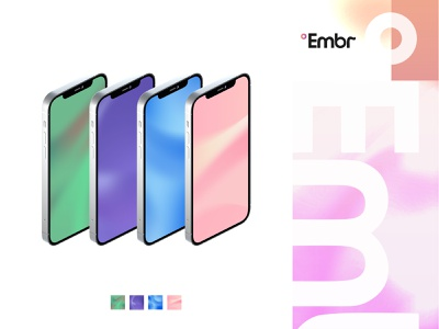 Embr Wavy App Backgrounds pink purple green blue waves relief embr labs wave flowing agrib app background app screen app device heating cooling blurred soothing vector wavy backgrounds background embr