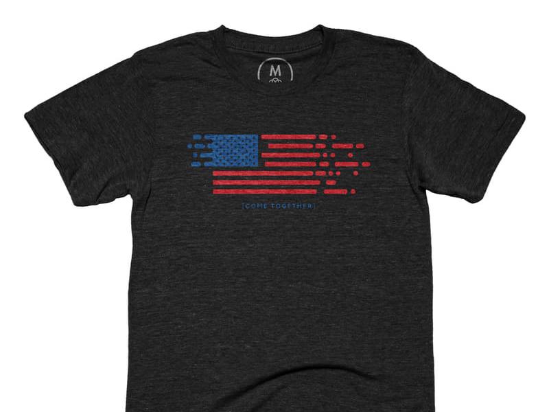 Come Together t-shirt on Cotton Bureau peace politics political flag usa come together america tee t-shirt cotton bureau