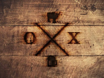 OX Branding burned wood seal restaurant logo icon food ox dining brewery beer badge
