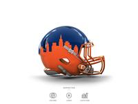 Mets Football Helmet 6 of 30